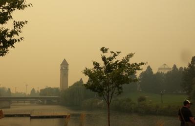 The wildfire haze...
